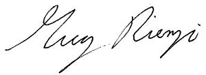 Greg Rienzi signature