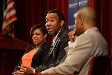 Author Ta-Nehisi Coates speaks at JHU's first Forum on Race in America